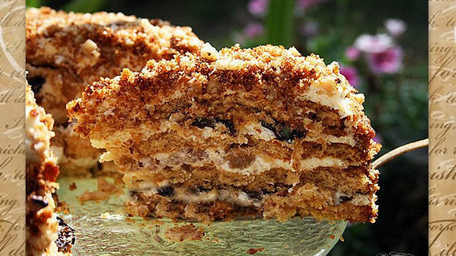Медовый торт с белковым кремом рецепт с пошаговым